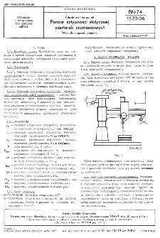 Obrabiarki do metali - Pomiar sztywności statycznej wiertarek promieniowych - Warunki i sposób pomiaru BN-74/1522-06