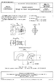 Zapinki pokrętne - Wkręt ze łbem skrzydełkowym BN-71/3813-04