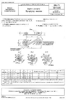 Zapinki pokrętne - Sprężyny esowe BN-71/3813-05