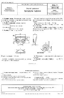 Zapinki pokrętne - Sprężyna kątowa BN-71/3813-06