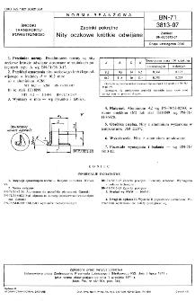 Zapinki pokrętne -Nity oczkowe krótkie odwijane BN-71/3813-07