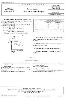 Zapinki pokrętne - Nity oczkowe długie BN-71/3813-09