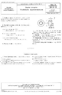 Zapinki pokrętne - Podkładki wyrównawcze BN-71/3813-10