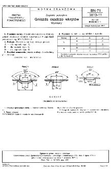 Zapinki pokrętne - Gniazda osadcze wkrętów BN-71/3813-11