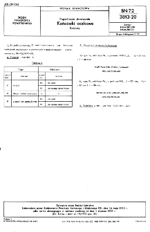 Popychacze sterowania - Końcówki oczkowe - Korpusy BN-72/3813-20