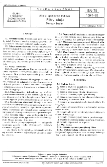 Silniki spalinowe tłokowe - Filtry oleju - Metody badań BN-79/1341-70