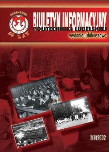 Biuletyn informacyjny Politechniki Lubelskiej 2(8)/2002 : wydanie jubileuszowe