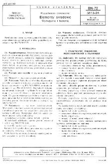 Popychacze sterowania - Elementy składowe - Wymagania i badania BN-72/3813-24