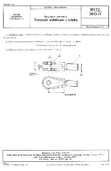 Popychacze sterowania - Końcówki widełkowe z tulejką BN-72/3813-71