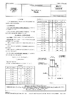 Oprzyrządowanie - Nóżki BN-77/4423-11