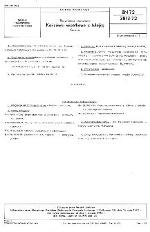 Popychacze sterowania - Końcówki widełkowe z tulejką - Korpusy BN-72/3813-72