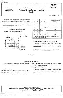 Popychacze sterowania - Końcówki widełkowe z tulejką - Tulejki BN-72/3813-73