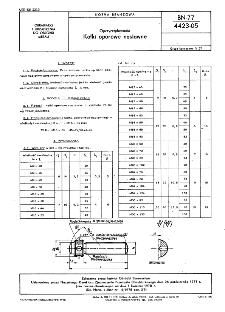 Oprzyrządowanie - Kołki oporowe nastawne BN-77/4423-05