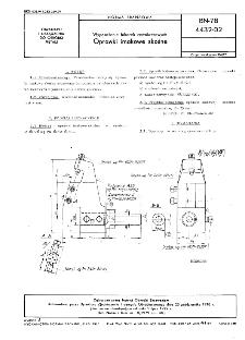 Wyposażenie tokarek rewolwerowych - Oprawki imakowe skośne BN-78/4432-02