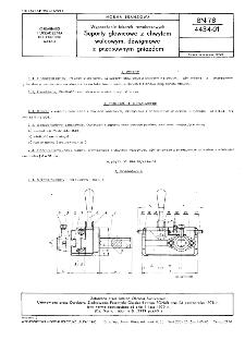 Wyposażenie tokarek rewolwerowych - Suporty głowicowe z chwytem walcowym, dżwigniowe z przesuwnym gniazdem BN-78/4434-01