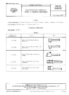 Wyposażenie tokarek rewolwerowych - Imaki z chwytakiem walcowym BN-78/4451-03