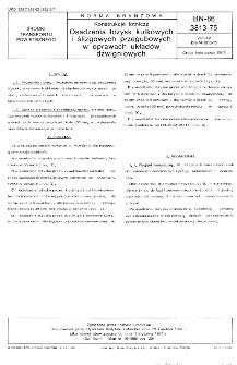Konstrukcje lotnicze - Osadzenia łożysk kulkowych i ślizgowych przegubowych w oprawach układów dźwigniowych BN-86/3813-75