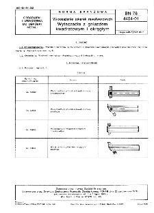 Wyposażenie tokarek rewolwerowych - Wytłaczadła z gniazdem kwadratowym i okrągłym BN-78/4454-01