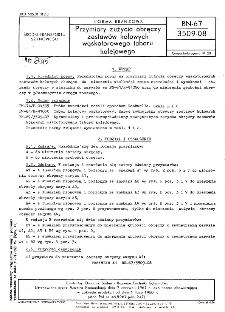 Przymiary zużycia obręczy zestawów kołowych wąskotorowego taboru kolejowego BN-67/3509-08