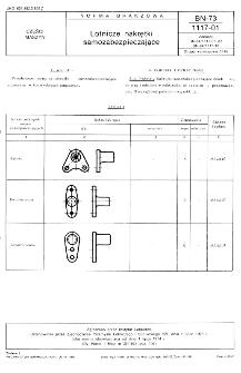 Lotnicze nakrętki samozabezpieczające BN-73/1117-01