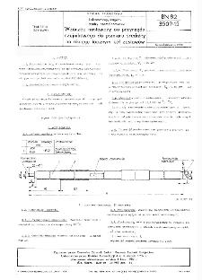 Lokomotywy, wagony i tendry normalnotorowe - Wzorzec nastawczy do przyrządu czujnikowego do pomiaru średnicy na okręgu tocznym kół zestawów BN-82/3509-15