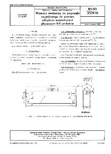 Wagony i tendry normalnotorowe - Wzorzec nastawczy do przyrządu czujnikowego do pomiaru odległości wewnętrznych płaszczyzn kół zestawów BN-83/3509-16