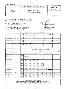 Nity lotnicze ze łbem płaskim BN-70/1121-01