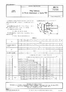 Nity lotnicze ze łbem stożkowym o kącie 90° BN-70/1121-04