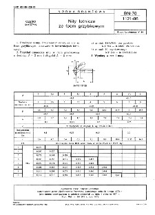 Nity lotnicze ze łbem grzybkowym BN-70/1121-06
