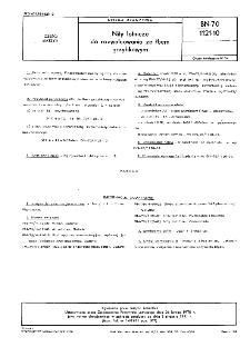 Nity lotnicze do rozwalcowania ze łbem grzybkowym BN-70/1121-10
