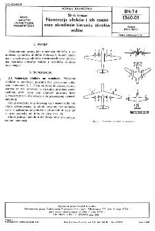 Silniki lotnicze - Numeracja silników i ich części oraz określenie kierunku obrotów wałów BN-74/1360-01