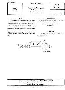 Maszyny i urządzenia górnicze - Tulejki rozprężne - Wymagania i badania BN-79/1125-02