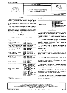 Koparki wielonaczyniowe - Podział, określenia, symbole BN-70/1717-01