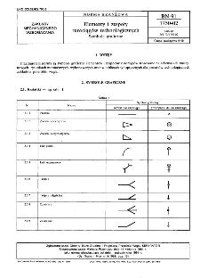 Elementy i zespoły rurociągów technologicznych - Symbole graficzne BN-91/1750-02