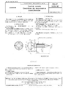 Gwoździe szewskie - Gwoździe do mocowania wierzchników BN-87/5028-36
