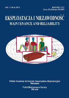 Eksploatacja i Niezawodność = Maintenance and Reliability Vol. 17 No. 4, 2015