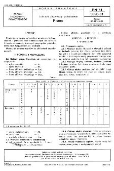 Lotnicze przyrządy pokładowe - Pismo BN-74/3890-01