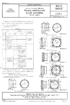 Lotnicze przyrządy pokładowe - korpusy cylindrycznych puszek wskaźników - główne wymiary BN-74/3891-01
