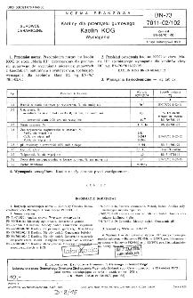 Kaoliny dla przemysłu gumowego - Kaolin KOG - Wymagania BN-73/7011-02/102