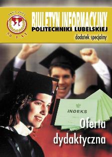 Biuletyn informacyjny Politechniki Lubelskiej 1(9)/2003 : dodatek specjalny : Oferta dydaktyczna