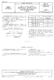 Lotnicze przyrządy pokładowe - Zamknięcia cylindrycznych puszek wskaźników - Podkładki BN-74/3891-04