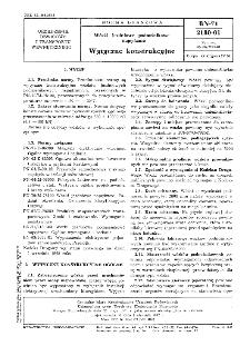 Wózki jezdniowe podnośnikowe napędzane - Wytyczne konstrukcyjne BN-71/2180-01