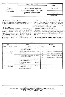 Lotnicze przyrządy pokładowe - zamknięcia cylindrycznych puszek wskaźników BN-74/3891-06