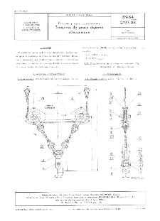 Pomocniczy sprzęt przeładunkowy - Trawersy do pracy dwiema dźwignicami BN-84/2197-08