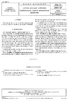 Lotnicze przyrządy pokładowe - Cylindryczne puszki wskaźników - Szczelność BN-74/3891-07