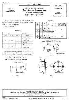 Lotnicze przyrządy pokładowe - Zamknięcia cylindrycznych puszek wskaźników - Pierścienie oporowe BN-74/3891-08