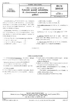 Lotnicze przyrządy pokładowe - Końcówki puszek wskaźników do ciśnieniowych przewodów giętkich BN-74/3891-09