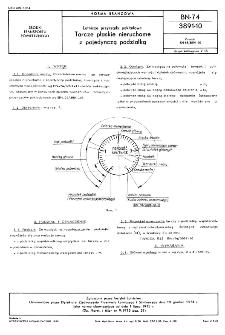 Lotnicze przyrządy pokładowe - Tarcze płaskie nieruchome z pojedynczą podziałką BN-74/3891-10