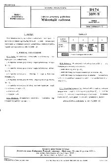 Lotnicze przyrządy pokładowe - Wskazówki ruchome BN-74/3891-11