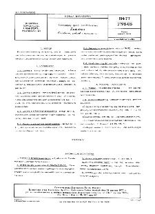 Pomocniczy sprzęt przeładunkowy - Zawiesia - Określenia, podział i oznaczenia BN-77/2198-08
